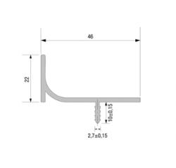 L vertikálne žliabkové profily
